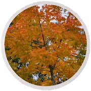 Color Of Fall Round Beach Towel