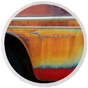 Color Of Rust Round Beach Towel