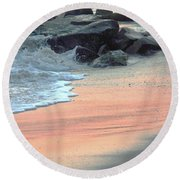 Color Of Sand Cape May Nj Round Beach Towel