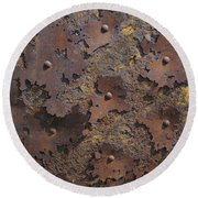 Color Of Steel 2 Round Beach Towel
