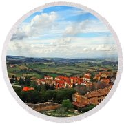 Color Of Tuscany Round Beach Towel