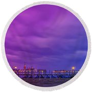 Color Play Round Beach Towel
