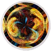 Color Power Collage Round Beach Towel