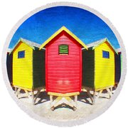 Color Reflected Round Beach Towel