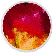 Color Shock 4 - Vibrant Digital Painting Round Beach Towel by Sharon Cummings