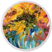 Color Splash Round Beach Towel by Barbara Pirkle