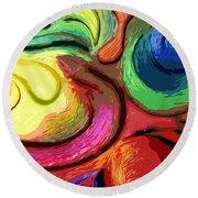 Color Swirl Round Beach Towel