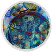 Color Time Round Beach Towel