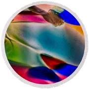 Color Wall Round Beach Towel