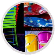 Color Your Life 1 Round Beach Towel