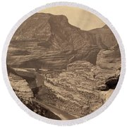 Colorado Canyons, 1872 Round Beach Towel