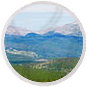 Colorado Continental Divide Panorama Hdr Round Beach Towel