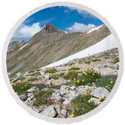 Colorado Elkhead Pass Round Beach Towel