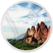 Colorado - Garden Of The Gods Round Beach Towel