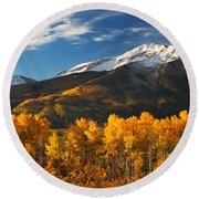 Colorado Gold Round Beach Towel by Darren  White