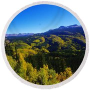 Colorado Landscape Round Beach Towel