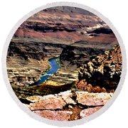 Colorado Rapids Grand Canyon Round Beach Towel