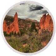 Colorado Red Rock Landcape Round Beach Towel