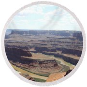 Colorado River From Dead Horse Point  Round Beach Towel