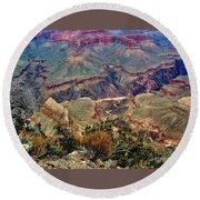 Colorado River Grand Canyon Round Beach Towel