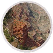 Colorado River In The Grand Canyon Round Beach Towel