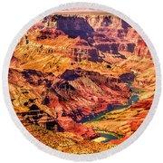 Colorado River 1 Mi Below 100 Miles To Vermillion Cliffs Utah Round Beach Towel