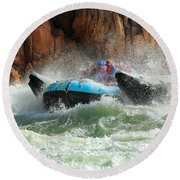 Colorado River Rafters Round Beach Towel by Inge Johnsson
