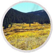 Colorado River Valley In Fall Round Beach Towel