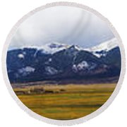 Colorado Rockies Panorama Round Beach Towel