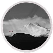 Colorado Rocky Mountain High Round Beach Towel