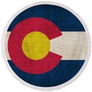 Colorado State Flag Round Beach Towel
