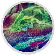 Colored 2 Round Beach Towel