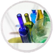 Colored Bottles Round Beach Towel