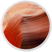 Colored Curves Round Beach Towel