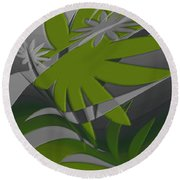 Colored Jungle Green Round Beach Towel