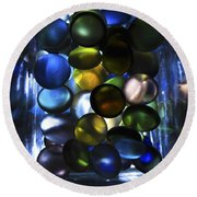 Colored Stones Of Light Round Beach Towel