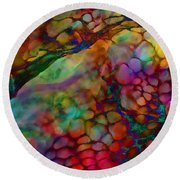 Colored Tafoni Round Beach Towel