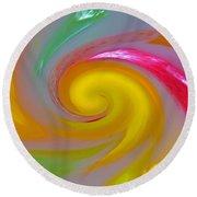 Marble Jelly Swirl Round Beach Towel