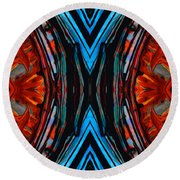 Colorful Abstract Art - Expanding Energy - By Sharon Cummings Round Beach Towel