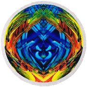 Colorful Abstract Art - Purrfection - By Sharon Cummings Round Beach Towel