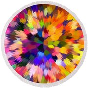 Colorful Abstract Background Round Beach Towel