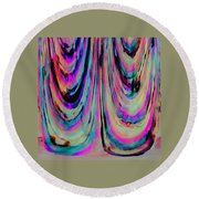 Colorful Abstract W Round Beach Towel