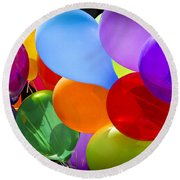 Colorful Balloons Round Beach Towel