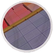 Colorful Bars Soap On Market In Provence Round Beach Towel
