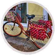 Colorful Bike Round Beach Towel