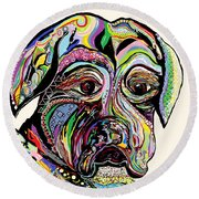 Colorful Boxer Round Beach Towel