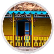 Colorful Building Round Beach Towel