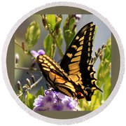 Colorful Butterfly Square Round Beach Towel