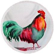 Colorful Chicken Round Beach Towel