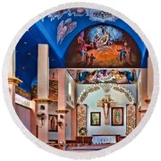 Colorful Church Round Beach Towel